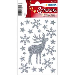 Herma 3727 DECOR Sticker - Hirsch - glitzernd - 20 Sticker