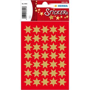 Herma 3904 DECOR Sticker - Sterne - sechszackig - gold -...
