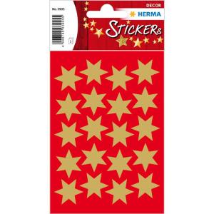 Herma 3905 DECOR Sticker - Sterne - sechszackig - gold -...