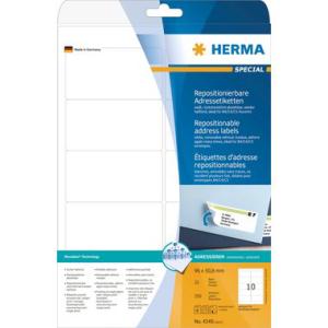 Herma 4349 SPECIAL Adressetiketten - DIN A4 - weiß...