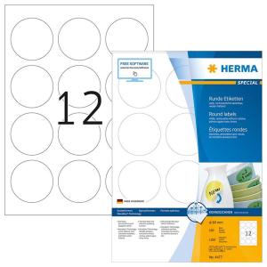 Herma 4477 SPECIAL Etiketten - DIN A4 - Ø 60 mm -...