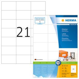 Herma 4668 PREMIUM Etiketten - DIN A4 - 70 x 42,3 mm -...