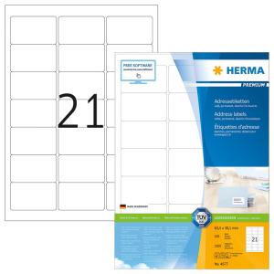 Herma 4677 PREMIUM Adressetiketten - DIN A4 - weiß...