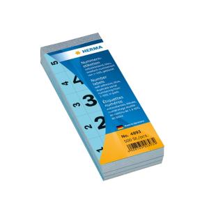Herma 4893 Nummernblock - 28 x 56 mm - selbstklebend - 1...