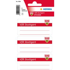Herma 5004 VARIO Schuletiketten - VfB Stuttgart