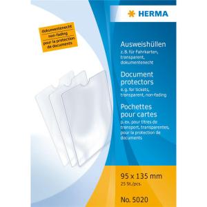 Herma 5020 Ausweishüllen - 95 x 135 mm - transparent...