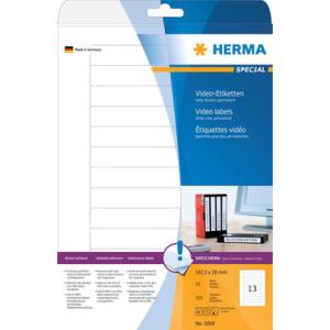 Herma Video-Etiketten - DIN A4 - 147,3 x 20 mm - weiß