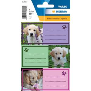 Herma 5529 VARIO Schuletiketten - Hunde - 9 Stück