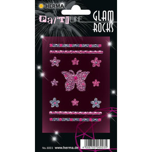 Herma 6003 GLAM ROCKS Sticker - Schmetterlinge -...