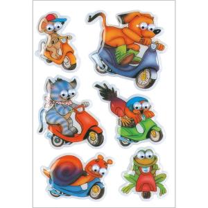 Herma 6046 DECOR Sticker - Tiere auf Rädern -...