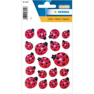 Herma 6054 MAGIC Sticker - Marienkäfer - 19 Sticker