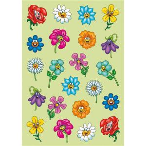 Herma 6262 DECOR Sticker - lustige Blumengesichter - Puffy