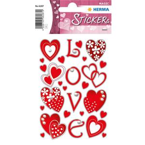 Herma 6287 MAGIC Sticker - Love - rot - 26 Sticker