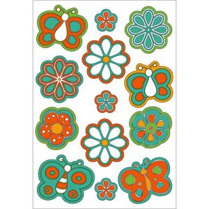 Herma 6363 Sticker - Blumen & Schmetterlinge - Puffy