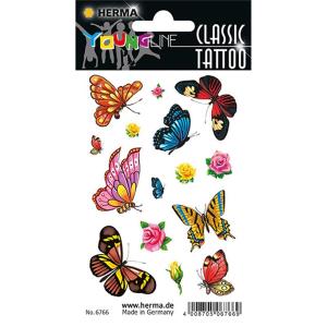 Herma 6766 Classic Tattoo - Schmetterlinge - farbig - 15...