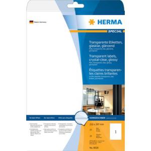Herma 8020 SPECIAL Folienetiketten - DIN A4 - 210 x 297...