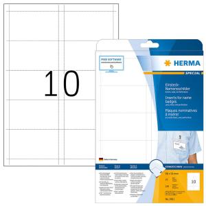 Herma 9011 SPECIAL Namen-Einsteckschilder - DIN A4 - 90 x...