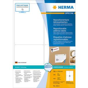 Herma 10313 SPECIAL Adressetiketten - DIN A4 - 99,1 x 139...