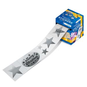 Herma 15135 Weihnachtssticker - Sterne - silber - auf...