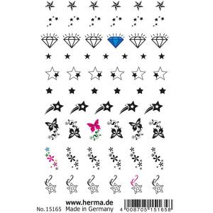Herma 15165 CLASSIC NAIL TATTOO Sticker - Stars