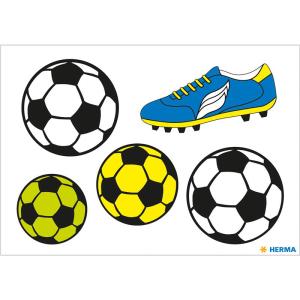 Herma 19193 Reflektorsticker - Fußball - 5 Sticker