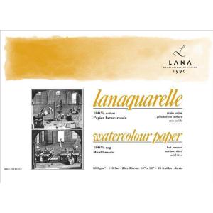 Lana Lanaquarelle Block - 300 g/m² - satiniert - 18...