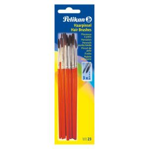 Pelikan Haarpinsel Set - Sorte 23 - Größen 2,...