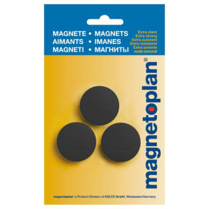 magnetoplan Magnete Discofix Junior in schwarz 34 mm, 3...