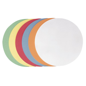 FRANKEN Moderationskarten - Rund 9,5 cm - farblich...