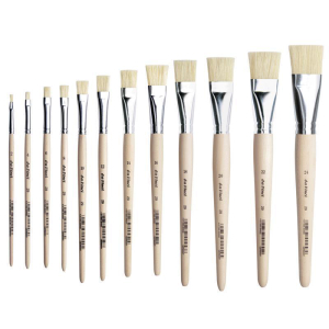 da Vinci Borstpinsel flach kurze rohe Stiele Gr: 14