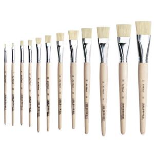 da Vinci Borstpinsel flach kurze rohe Stiele Gr: 22