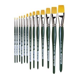 da Vinci Nova Hobbypinsel flach goldfarbene...