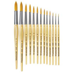 da Vinci Schulpinsel rund goldfarbene Synthetikfasern Gr: 4
