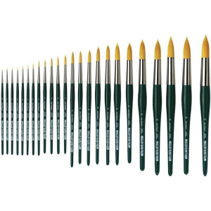 da Vinci Nova Aquarellpinsel goldfarbene Synthetikfasern...
