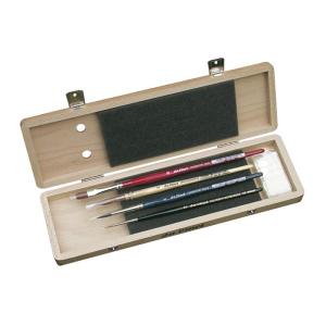 da Vinci Aquarellpinselset in einer Holzschatulle