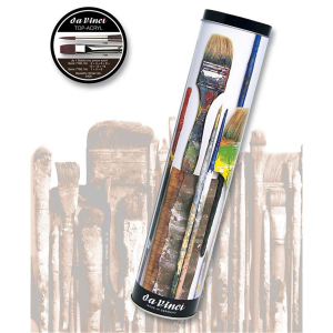 da Vinci Geschenkdose Top-Acryl Inhalt: 10 Pinsel  S.7185+7