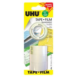 UHU Klebefilm transp.3+1 NF 19mmx7,5m