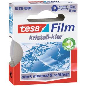 tesa tesafilm Kristall-Klar - 33 m x 15 mm - transparent