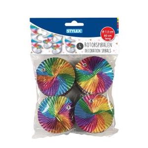 Stylex Rotor-Spiralen - 60 cm - regenbogenfarbig - 4...