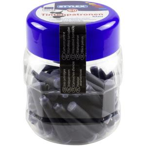 Stylex Tintenpatronen - blau - 50er Kunststoffbox