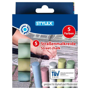 Stylex Straßenkreide - farbig - 5 Stück