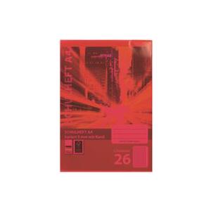 Stylex Heftumschlag - DIN A4 - PP - rot-transparent