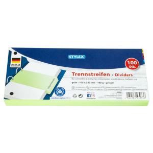 Stylex Trennstreifen - 10,5 x 24 cm - grün - 100...
