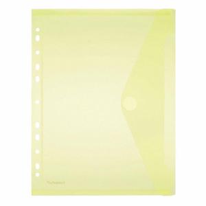 FolderSys Sichttasche PP A4 transp. gelb Abheftrand