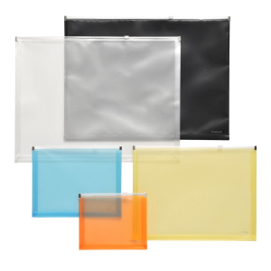 FolderSys Gleitverschluss-Beutel, A6, Dehnfalte, PP gelb