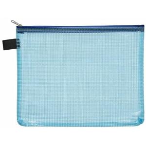 FolderSys Kleinkram-Beutel A5+, Zipp, blau transparent