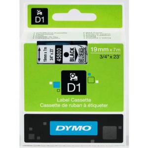 Dymo D1-Schriftband 19mm breit, black auf transparent