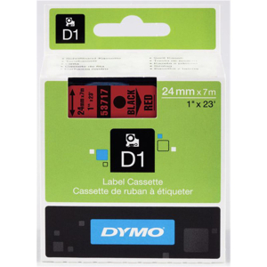 DYMO Schriftband 24 mm x 7 m schwarz/rot