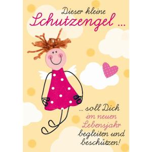 Komma3 Glückwunschkarte Kleiner fröhlicher...