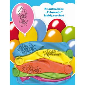 Luftballon Prinzessin 8 Stück